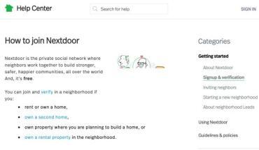 How to Join Nextdoor App